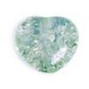 Glass Bead Cracked 8mm Heart Light Peridot Dyed - Strung